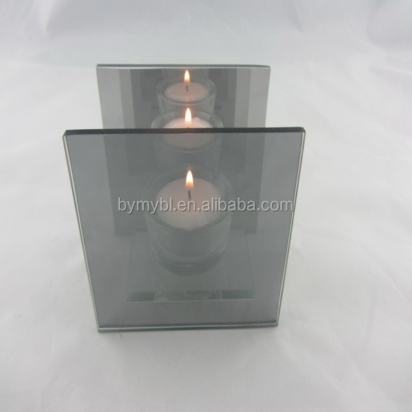 square infinity reflection tealight holder,candle sleeves,decoration flame light