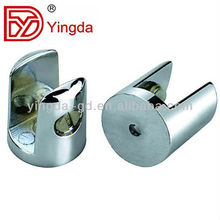 Best sell small zinc alloy material shelf clips for glass board---YD-074