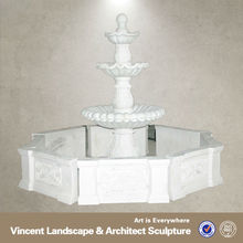 white marble garden fountain VMF-N005A