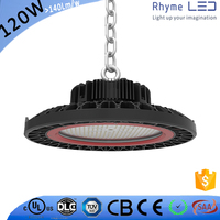 Aluminum material meanwell driver 200W 150W 120W motion sensor industrial ufo led high bay light