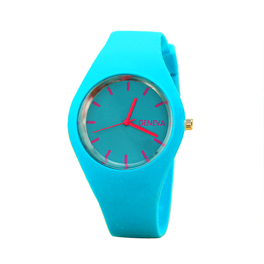 korean mini reloj Ladies quartz select fashion custom made cheap silicon rubber colorful geneva watch