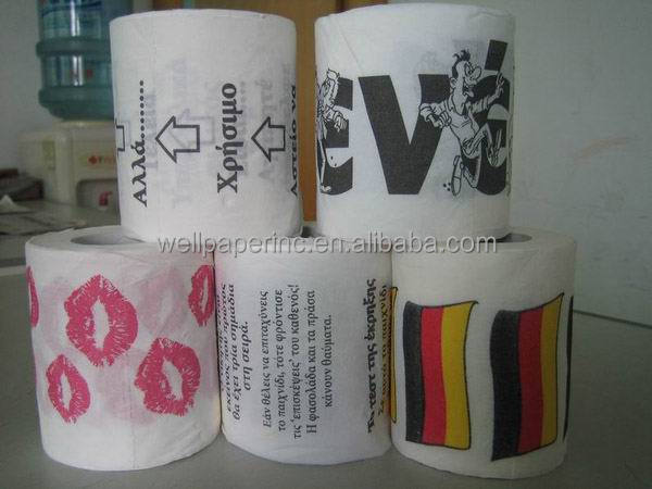 Funny patten Printed Roll Toilet Paper
