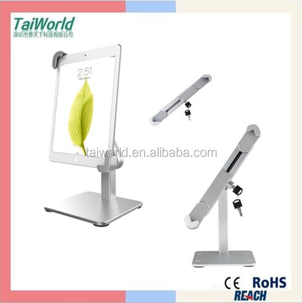 2016 best selling tablet pc security anti-theft display metal stand tablet holder display stand