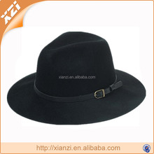 New style detachable belt buckle black jazz cap wool hats for men