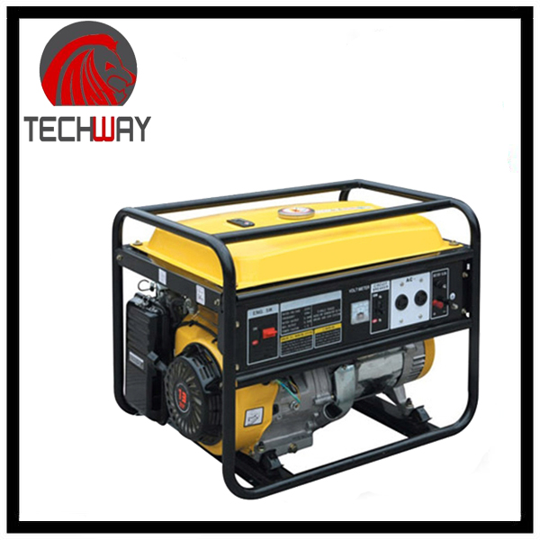 single cylinder air cooled 4 stroke 5kw portable gasoline generator