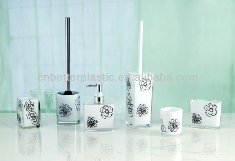 Fashional hotel plastic bathroom set accessories A9177A A9166C A9168F A9169F A9223A A9167F from factory