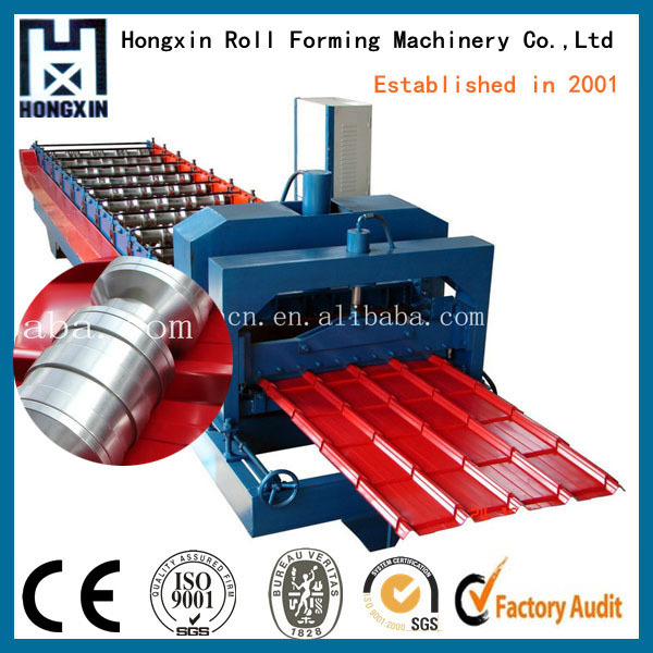 Cold Aluminum Glazed Tile Rof Sheet Roll Forming Machine