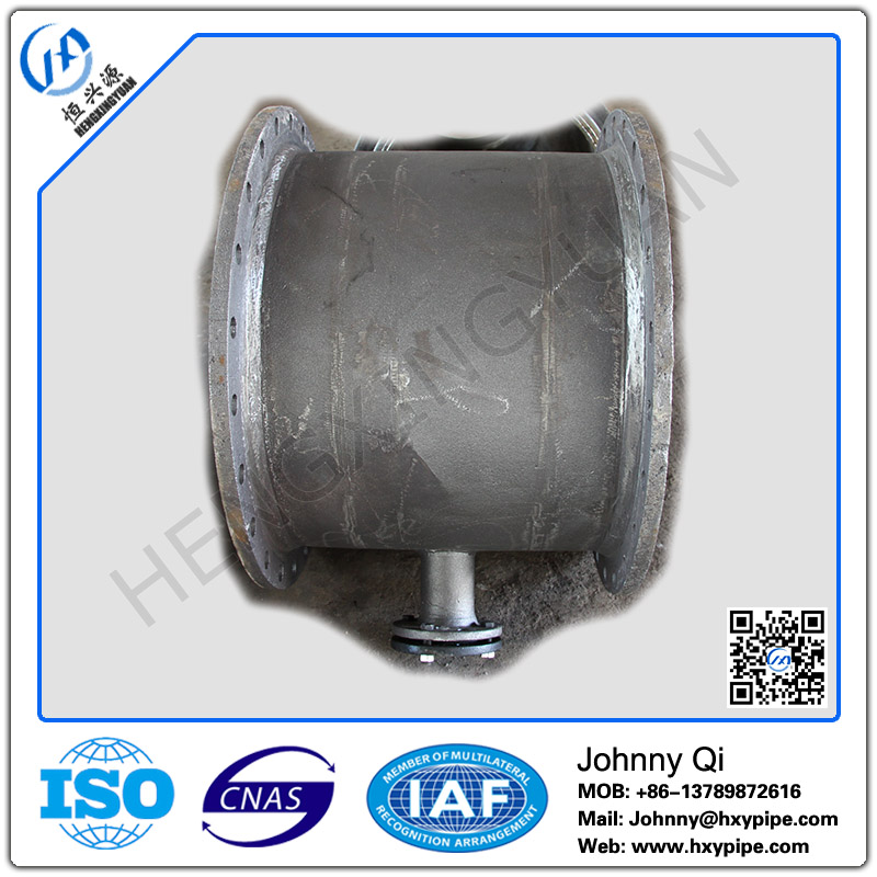 DI Pipe Fittings Ductile Iron All Flanged Tee Raw Water Use