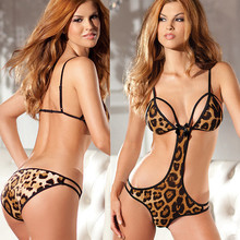 wholesale animal leopard print best flirtatious suit girls sexy undergarments erotic lingerie sexy bra and panties