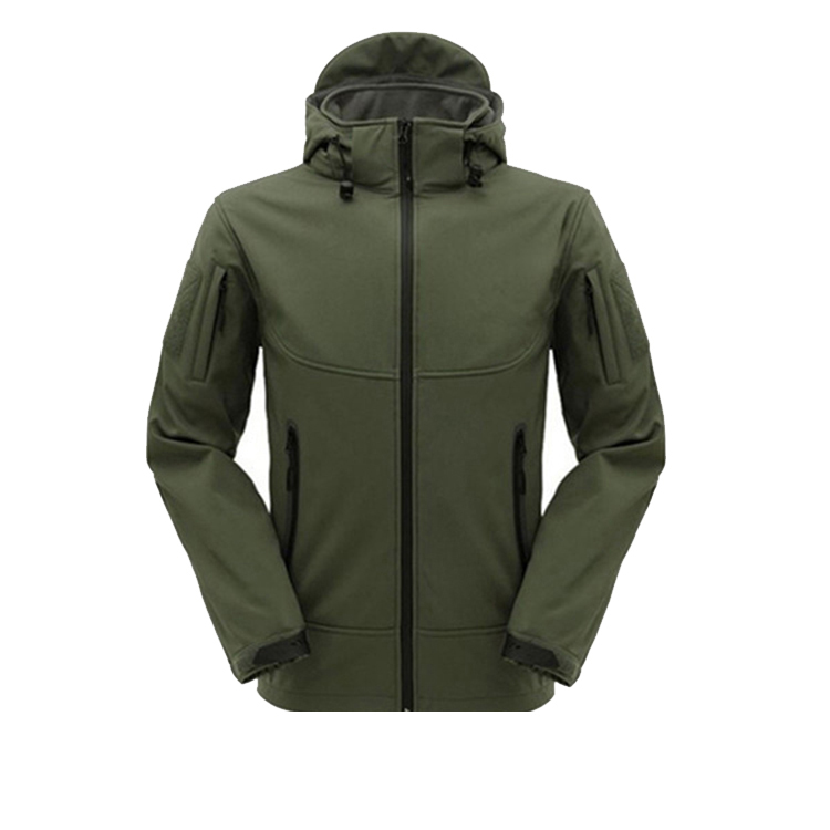 wholesale high quality winter softshell jacket with hood