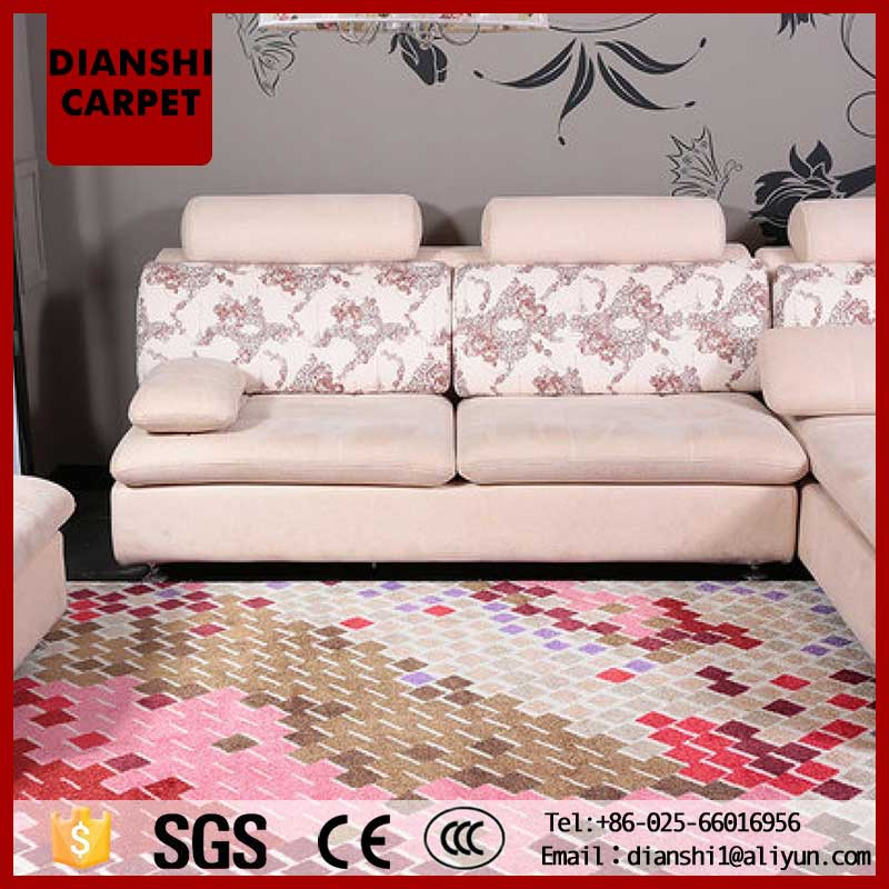 Pop Style Machine Weaving Acrylic Floor Carpet In Chinese Factory