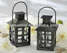 Black Mini Lantern tealight candle Holder wedding table decoration favor gifts