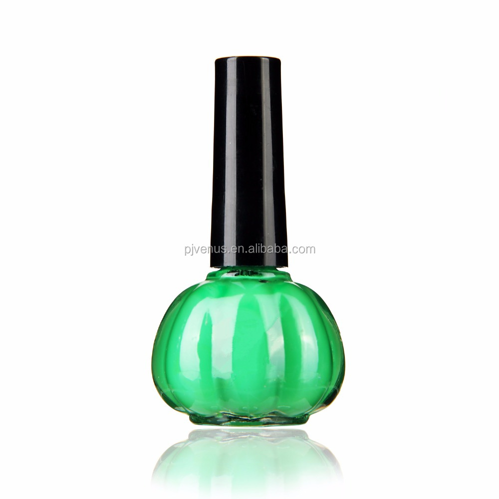 2017 yiwu wholesale cheap color pumpkinbottle nail polish 15ML