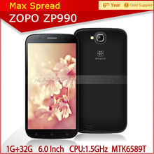 Android 4.2 5MP/13MP 1920*1080 FHD 6 inch ZOPO ZP990 smartphone MTK6589T fashion cell phone