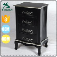 high standard quality black solid wood modern altar cabinet