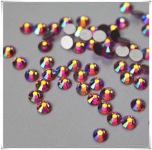 New fashion Nail Art light rink rhinestone crystal AB colour silver flatback non hot fix rhinestone tone for wedding dress