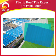 plastic pvc synthetic resin roof tile/ASA coated pvc roofing tile