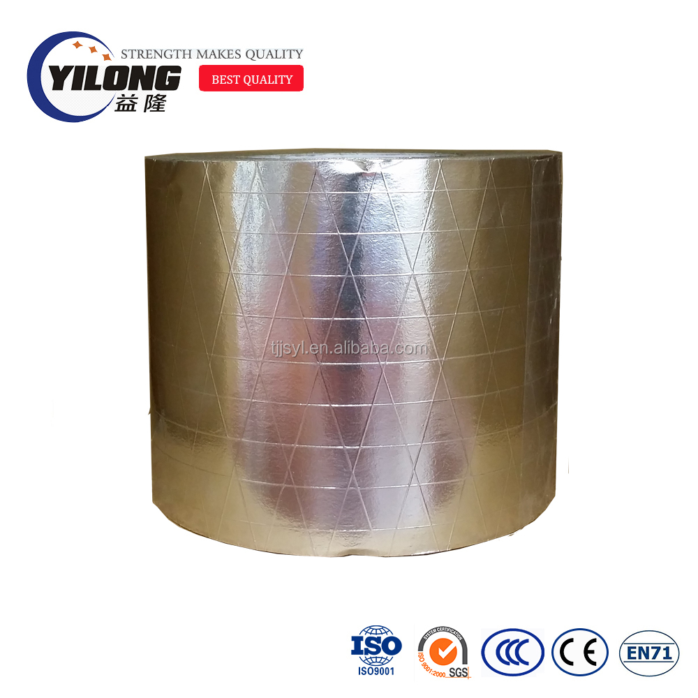 firestop house wrap and roof insulation aluminized fiberglass fabric