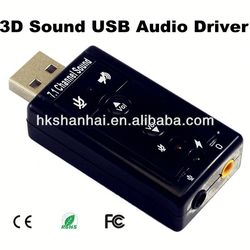 High quality Flexible audio interface 3d sound card usb driver