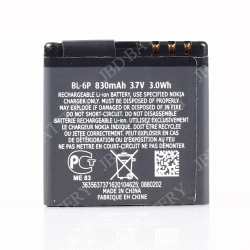 mobile phone battery bl-6p for nokia phone use battery charger