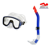 Cheap wholesales adult pvc diving mask and snorkel set