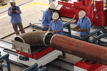 Pipe prefabrication flange quick fit up machine