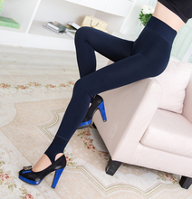 Woman Winter Super Warm Thick Stretchy Gold Velvet Leggings Pants
