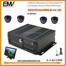 EMV Full D1 h.264 sd card gps 3G Mobile Dvr GPS G-Sensor 128GB Storage, taxi security camera system