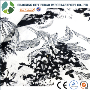 Quality for brand washed printed linen fabric garment fabric