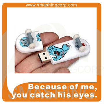 skateboard shaped hot promtional gifts usb flash drive
