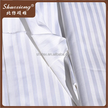 Cheap 250T poly cotton 1cm stripe 280cm sheeting fabrics
