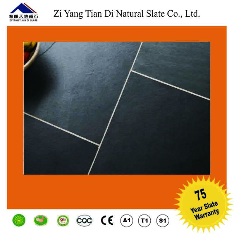 black silicon flooring slate natural