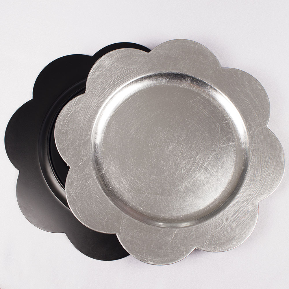 charger plates wholesale with glitter heated dinner plates