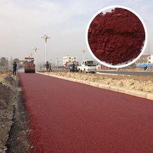 high quality iron oxide red 120 130 190 for road paving colored asphalt