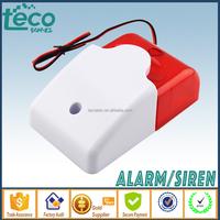 TPS-120 Ningbo TECO 12V Wired Piezo Home Alarm Door Alarm Strobe Light with Hi Sound 110dB