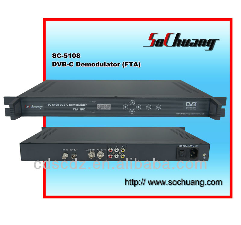 Digital Cable TV Headend /Digital TV Satellite Decoder