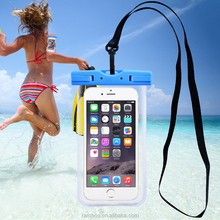 Smartphone PVC Waterproof Dry Case Fingerprint Recognition Touch ID Swimming Diving Pouch for iPhone 5/ 6/6 Plus/ 7/7 Plus