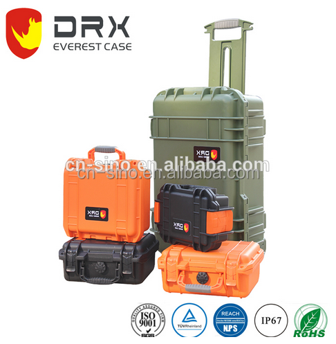 IP67 Waterproof packing hard plastic equipment sample carrying case