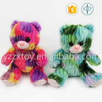 Cute colorful plush teddy bear toy for kids