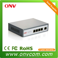 Top quality hot selling High Reliability 10/100M 4 port POE switch 52V 65W fiber POE Ethernet switch