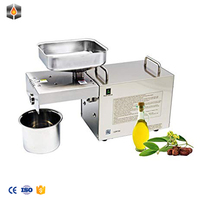 Mini cold/hot home used press oil machine for sesame,peanut,olive
