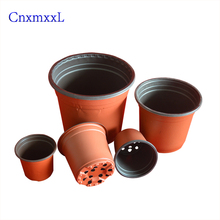 thermoformed plastic blister flower pot with double color