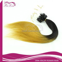 High Feedback Wholesale Factory Supply Different Color Available ombre micro ring loop hair extensions