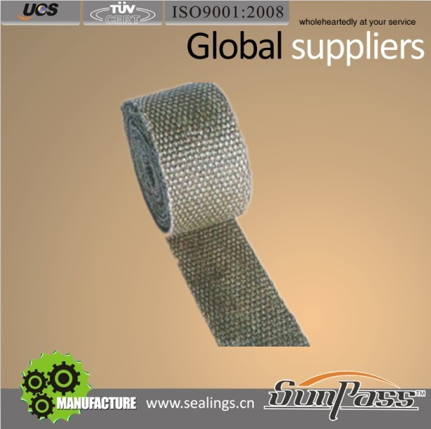 Recreation Ground Glass Fiber Tape Vermiculite Fiberglass Insulation Tape
