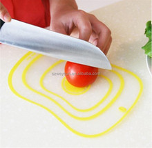 Kitchen Chopping Block Meat Vegetable Fruit Cutting Board Frosted Transparent Bendable Classified Antibacterial Non-slip