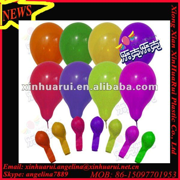different size latex balloons