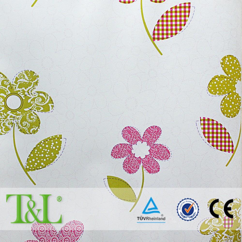 Pvc Dicuci Lucu Anak Anak Bunga Wallpaper Buy Product On Alibabacom