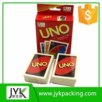 Hot new products for 2016 high quality gaming playing custom printing uno cards