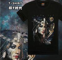 Cusotm 2015 Red Space Jupiter Galaxy Sublimation Urban T-Shirt / street hip hop fashion t shirt