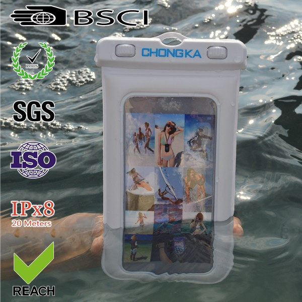 Outdoor Sports waterproof diving bag for Iphone 5c with earphone